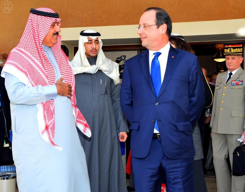 Prince Miteb Receives French President Hollande