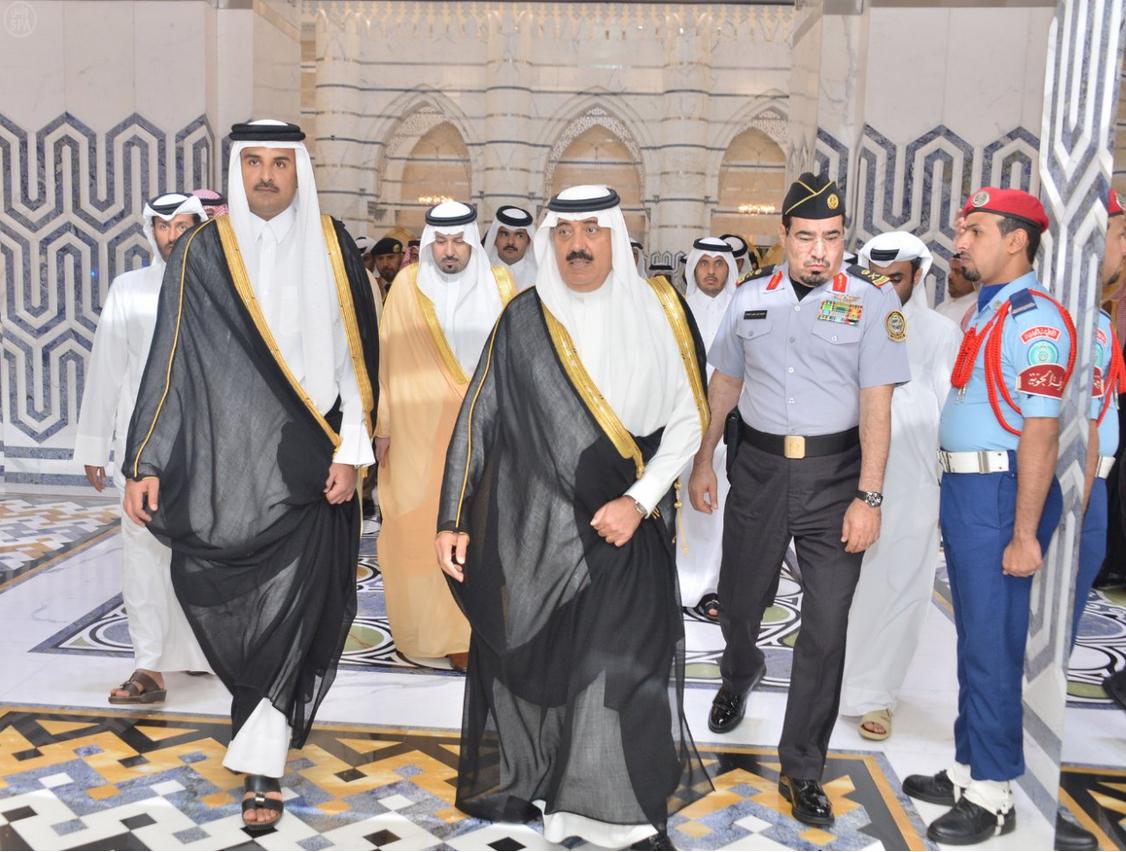 The Emir of Qatar arrives in Jeddah.