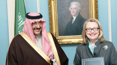 Muhammed bin Nayef and Hillary Clinton in 2013.