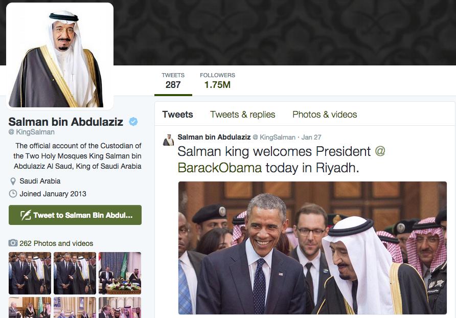 King Salman Twitter