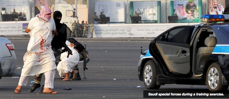 Saudi Security Forces during a Training Exercise
