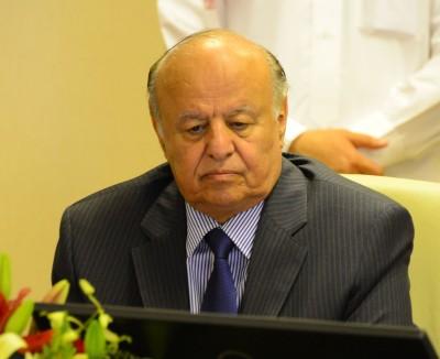 Yemen's exiled President Hadi in Saudi Arabia last month. Photo via SPA.