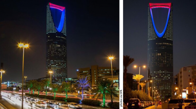 Saudi-capital-Riyadh-lights-up-solidarity-france