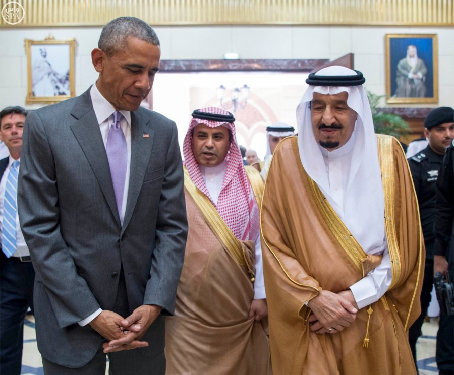 President Obama and King Salman in Riyadh today.