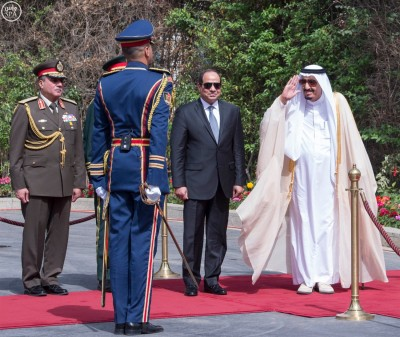 King Salman in Egypt in 2016.