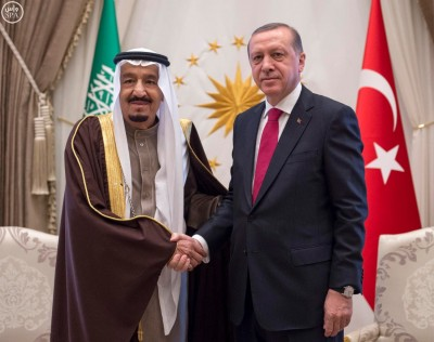 King Salman met today with Recep Tayyip Erdoğan in Ankara.