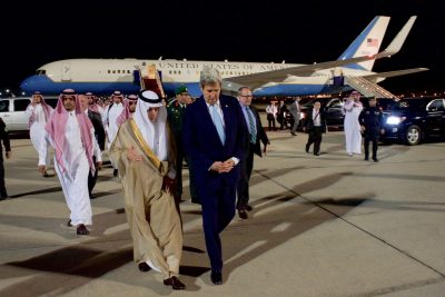 Secretary of State John Kerry and Foreign Minister Adel Al-Jubeir.