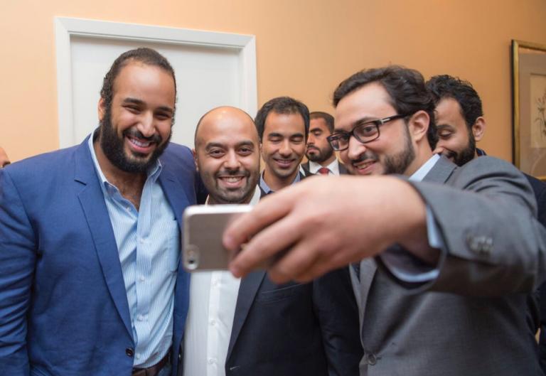 Saudi youth with Crown Prince Mohammed bin Salman.