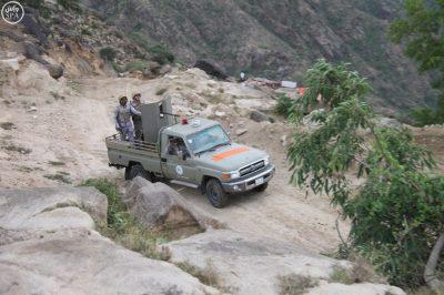 Troops along Saudi Arabia's border with Yemen in Jazan, Saudi Arabia.