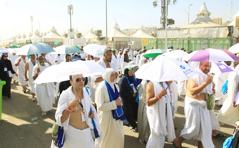 Temperatures soared over 100 degrees during each day of the Hajj.
