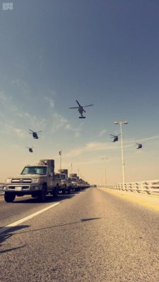 GCC forces conduct an operation in Bahrain in October.
