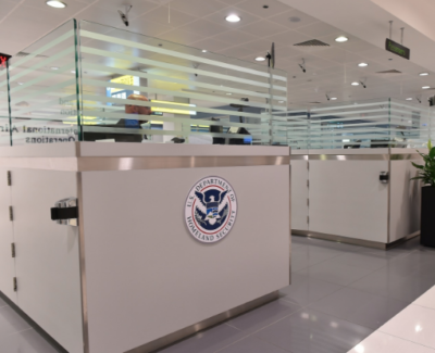 The U.S. Customs facility in Abu Dhabi.