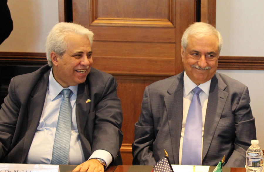 Dr. Ibrahim Al-Assaf (R) was Minister of Finance for over 20 years.