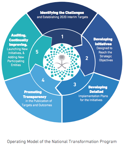 Saudi Arabia's National Transformation Program operating model.