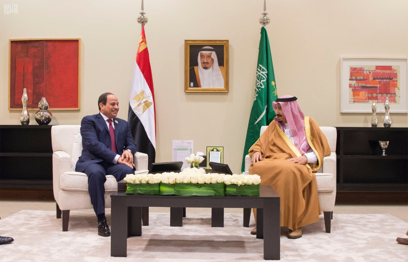 King Salman and President Sisi in Jordan.