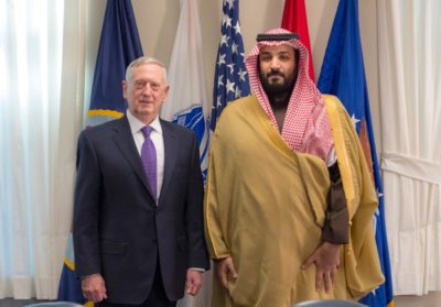 Secretary of Defense James Mattis with Deputy Crown Prince Mohammed bin Salman.