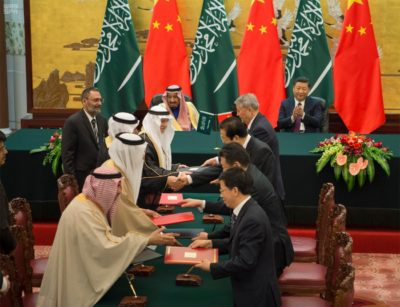 King Salman in China oversees the signing of deals and joint projects between Saudi Arabia and China.