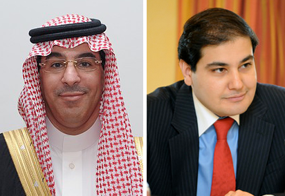 Saudi Arabia's new Minister of Culture and Information, Dr. Awad Al-Awwad, left, replaces Adel Al-Toraifi, right.
