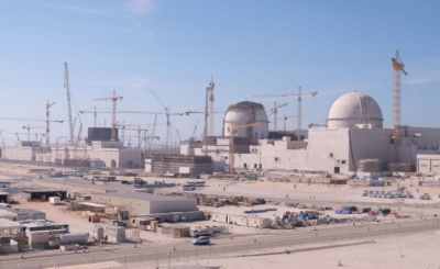 The UAE's nuclear power plant, under construction.