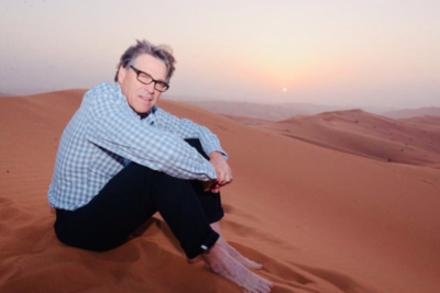 Secretary Perry in the Saudi desert.