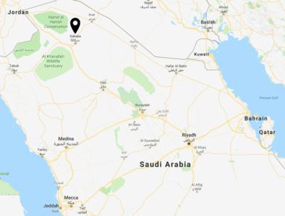 Sakaka is located in Northern Saudi Arabia.