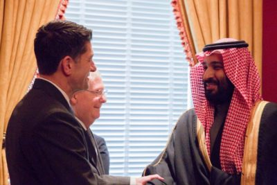 Crown Prince Mohammed bin Salman and Speaker of the House of Representatives, Paul Ryan.