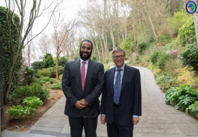 Crown Prince Mohammed bin Salman and Bill Gates.