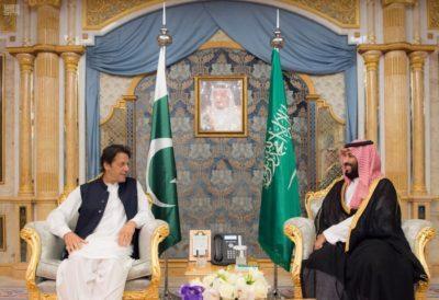 Prime Minister Khan and Crown Prince Mohammed bin Salman.
