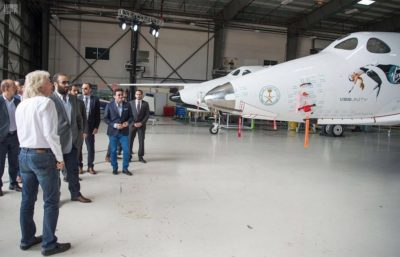 Richard Branson welcomed Crown Prince Mohammed bin Salman to visit Virgin Galactic this spring.