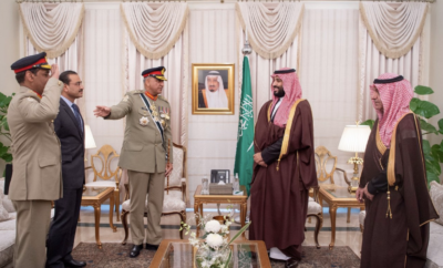 Crown Prince Mohammed bin Salman meets with head of Pakistan's Army.