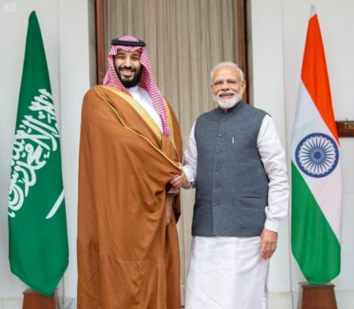 """On the issue of extremism and terrorism, which is a common concern, we want to tell India that we will cooperate in every way, including intelligence sharing,"" the crown prince said."