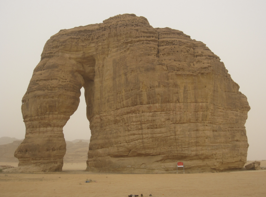 Elephant Rock near Al-Ula, Saudi Arabia.