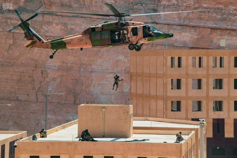 Saudi forces in a recent training exercise.