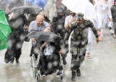 Even with heavy rainfall, the Hajj went off without incident this year.